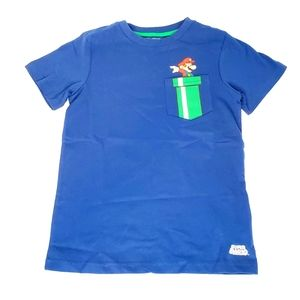 Super Mario Boys T-shirt with Front Pocket